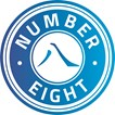 Number Eight logo _ definitief blauw verloop